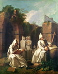 Carthusian Monks in Meditation Poster Art Print by French School