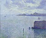 Sailing Boats in an Estuary, c.1892-93 Poster Art Print by Paul Signac