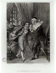 Figaro, illustration from Act III Scene 12 of 'The Barber of Seville' by Pierre Augustin Caron de Beaumarchais