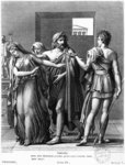 Phaedra, Theseus and Hippolytus, illustration from Act III Scene 5 of 'Phedre' by Jean Racine Poster Art Print by Jean Auguste Dominique Ingres