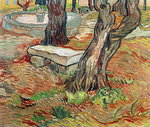 The Bench at Saint-Remy, 1889 Poster Art Print by Vincent van Gogh