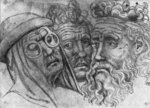 Heads of three men, from the The Vallardi Album Poster Art Print by Pieter the Elder Bruegel