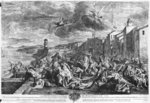 The plague of 1720 in Marseilles, engraved by Simon Thomassin Poster Art Print by English School