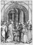 The marriage of the Virgin, from the 'Life of the Virgin' series, c.1504-05