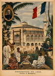 The Malagasy Pavilion at the Universal Exhibition of 1900, Paris, illustration from 'Le Petit Journal', 1st April 1900 Poster Art Print by French School