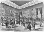 Salon of painting and sculpture of 1857, the main room in the Palais de l'Industrie gallery, Paris, 1857 Poster Art Print by Giovanni Paolo Pannini or Panini