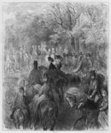 Carriages and riders at Hyde Park, illustration from 'Londres' by Louis Enault Poster Art Print by Pierre-Auguste Renoir