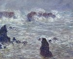 Storm, off the Coast of Belle-Ile, 1886 Poster Art Print by Claude Monet