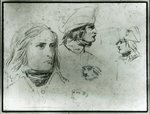 Sketches of Napoleon Bonaparte, 1797 Poster Art Print by French School