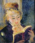 Girl Reading, 1874 Poster Art Print by Pierre-Auguste Renoir