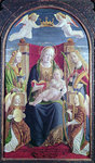 Madonna and Child with Angel Musicians, c.1490-1500 Poster Art Print by Bartolomeo Passarotti