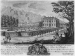 Voltaire's house in Ferney, west side, engraved by Francois, Maria, Isidore Queverdo Poster Art Print by William Grant
