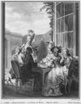 The whist party, engraved by Jean Dambrun Poster Art Print by French School