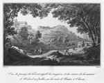 View of the torrent known as La Sanguese and the ruins of the house of Abelard at the Pallet, on the road from Clisson to Nantes, illustration from 'Voyage pittoresque dans le bocage de la Vendee ou vues de Clisson et de ses environs', 1817 Poster Art Print by Michael Rooker