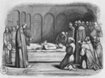 Death of Abelard, illustration from 'Lettres d'Heloise et d'Abelard', 1839 Poster Art Print by American School