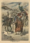 Anarchy in Morocco, plundering between tribes, illustration from 'Le Petit Journal', supplement illustre, 24th November 1907 Poster Art Print by French School