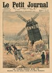 Pulling down one of the last windmills on the Butte Montmartre, illustration from 'Le Petit Journal', supplement illustre, 17th December 1911 Poster Art Print by Edward Reginald Frampton