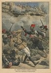 Ambush at Abir-Taouil, death of Captain Fiegenschuh, illustration from 'Le Petit Journal', supplement illustre, 6th March 1910 Poster Art Print by F. Ralambo