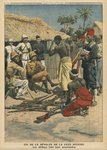 End of the revolt of the Cote d'Ivoire, the Abbeys surrendering to commander Nogues, illustration from 'Le Petit Journal', supplement illustre, 15th May 1910 Poster Art Print by F. Ralambo