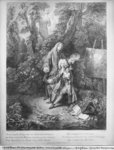 Jean Antoine Watteau and his friend Monsieur de Julienne, engraved by Nicolas Henri Tardieu Poster Art Print by Hermann Kauffmann