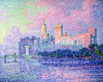 The Chateau des Papes, Avignon, 1900 Poster Art Print by Theo van Rysselberghe