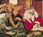 The Money Changer and his Wife, 1539 Poster Art Print by German School