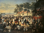 A Fete at Saint-Cloud c. 1860 Poster Art Print by French School