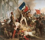 Fighting at the Hotel de Ville, 28th July 1830, 1833 Poster Art Print by Robert Alexander Hillingford