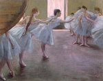 Dancers at Rehearsal, , 1875-1877 Poster Art Print by Edgar Degas