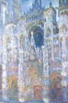 Rouen Cathedral, Blue Harmony, Morning Sunlight, 1894 Poster Art Print by Claude Monet