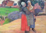 Breton Peasants, 1894 Poster Art Print by Paul Gauguin