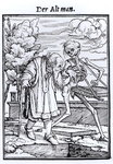 Death and the Old Man, from 'The Dance of Death', engraved by Hans Lutzelburger, c.1538 Poster Art Print by Hans Holbein The Younger