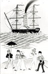 English Steamship at Canton, 1840 Poster Art Print by Chinese School
