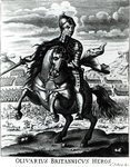 Equestrian portrait of Oliver Cromwell Poster Art Print by James Edwin McConnell