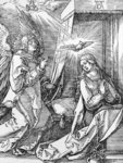 The Annunciation from the 'Small Passion' series, 1511 Poster Art Print by Leonardo da Vinci