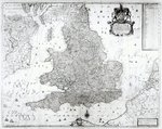 A New Map of the Kingdom of England and the Principalitie of Wales, 1669 Poster Art Print by Spanish School