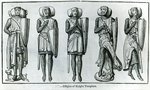 Effigies of Knight Templars Poster Art Print by English School