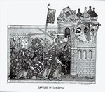 The Capture of Damietta in 1249 Poster Art Print by English School