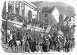 An Election Scene at Kilkenny, illustration from 'The Illustrated London News', May 14th, 1859 Poster Art Print by English School