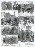 Irish Land League Agitation, illustrations from 'The Illustrated London News', October 29th 1881 Poster Art Print by Charles Monnet