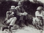 Saxon Sydney Turner, Clive Bell, Virginia Stephen and Julian Bell at Studland in Dorset, 1910 Poster Art Print by English Photographer