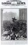 Fighting at the Liverpool General Transport Strike, cover of 'The Illustrated London News', August 19th 1911 Poster Art Print by French School