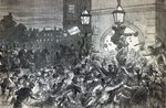Bread Riot at the entrance to the House of Commons in 1815 Poster Art Print by English School