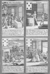 Playing Cards depicting current commercial ventures, c.1720 Poster Art Print by French School