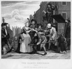Arrested for Debt, plate V from 'A Rake's Progress' Poster Art Print by William Hogarth