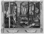 The Fellow 'Prentices at their Looms, plate I of 'Industry and Idleness', 1747 Poster Art Print by William Hogarth