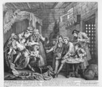 The Rake in Prison, plate VII, from 'A Rake's Progress', 1735 Poster Art Print by William Hogarth