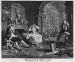 Marriage a la Mode, Plate II, The Tete a Tete, 1745 Poster Art Print by William Hogarth
