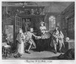 Marriage a la Mode, Plate III, The Inspection, 1745 Poster Art Print by William Hogarth