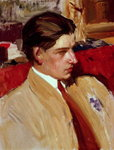 Fine Art Print of Self portrait in profile by Joaquin Sorolla y Bastida